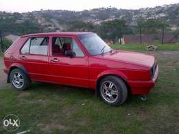 I got a golf one for sale 1.3 4 speed looking for 14500 for it