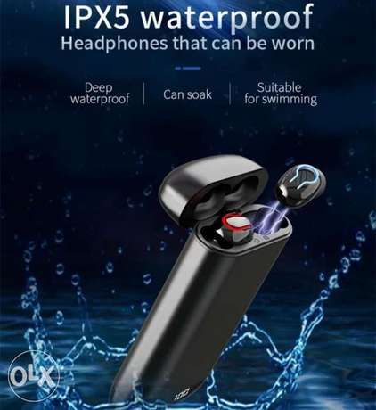 Bluetooth earphone Q66 with power bank الرياض -  7