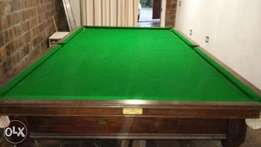 Vintage Billiard Table with accessories for sale