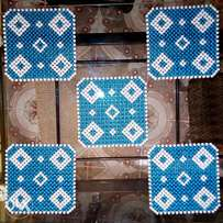 Blue x White Table Mats