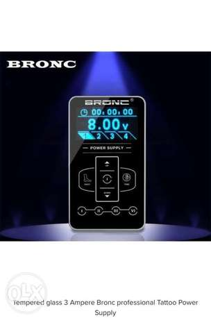 Tempered glass 3 Ampere Bronc professional Tattoo Power Supply