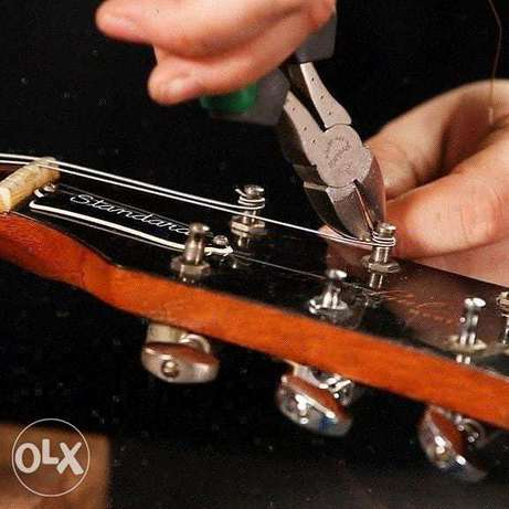 Bahrain guitars offering Cleaning polishing guitars strings changing.
