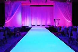 Runway decor and lights hire