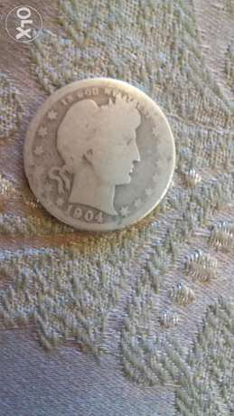 USA Silver five cents year 1904 very special and rare