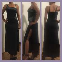 Black evening dress for sale (size 32)