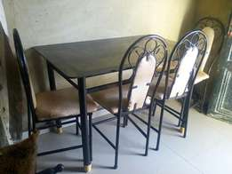 Iron dinning table and chair s