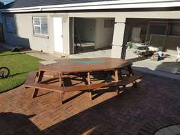 12 seater wooden table