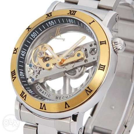 Luxury IK Mens Automatic Watch Sapphire Glass Silver Stainless Steel