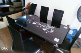 New tampered glass dining table