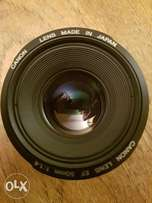 Canon Lens 50mm 1:1.4 with
