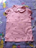 Gymboree girls Sparkle pink top 9 years