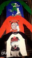 Long sleeve tops for boy toddlers size (4T-3T)