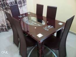 Brand New (Brown) 6-Seater Dining Table With Chairs