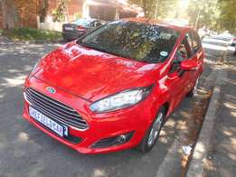 2016 Automatic Red Ford Fiesta 1.0 Ecoboost