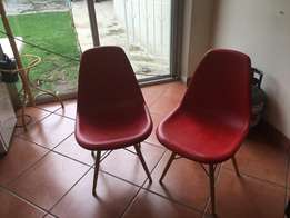 2 x Red Adam Rocket Chairs