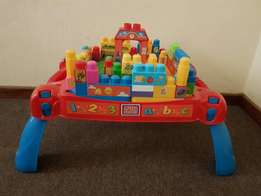 Toy Table. Mega Bloks. Toddler/Baby