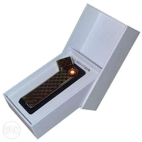 Brand New Checkered Electric Rechargeable Lighter