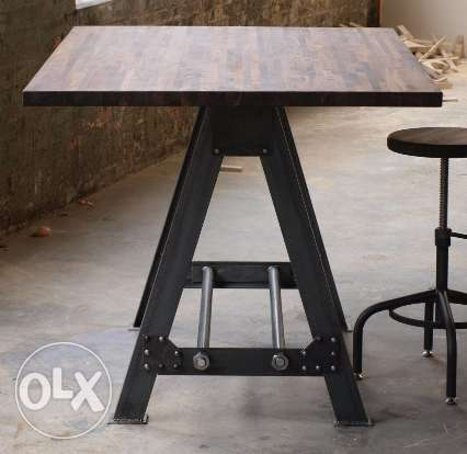 [ Industrial steel - Frame Table Kitchen Island Bar ]