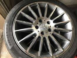 New Mercedes Benz AMG rims and tyres