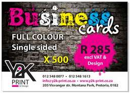 Calenders & Business cards.