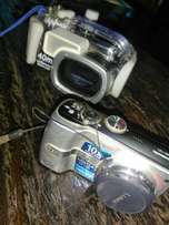 Digital camera with dive casing