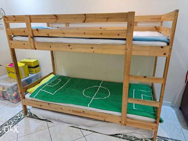 IKEA wooden bunk bed for kids