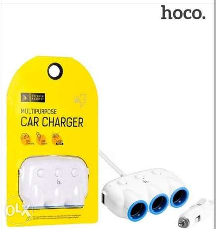 HOCO-C1 3 in 1 Car Charger Intelligent Balance Multiple Circuit Protec