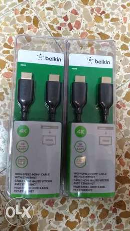 Original Belkin high quality hdmi cable 4k with ethernet 2 meters NEW