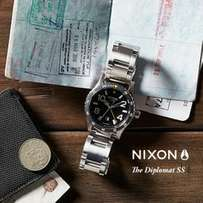 Nixon Diplomat Stainless Steel Watch in Black TO SELL OR SWOP
