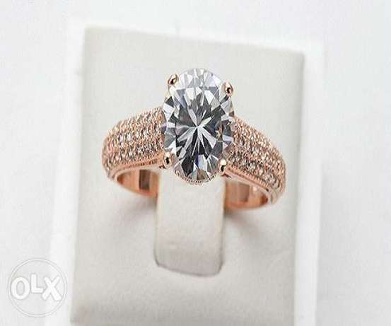 Crystal Micro Pave Wedding Engagement Rings Rose Gold Ikeja • olx