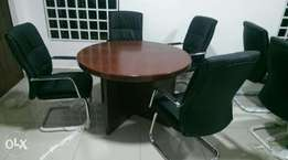One set of conference table by4 with for chair