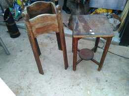 Two antique flower stands