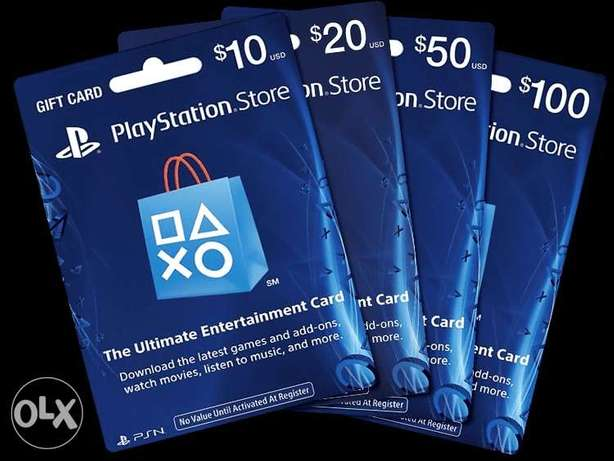 Play Station Network Cards