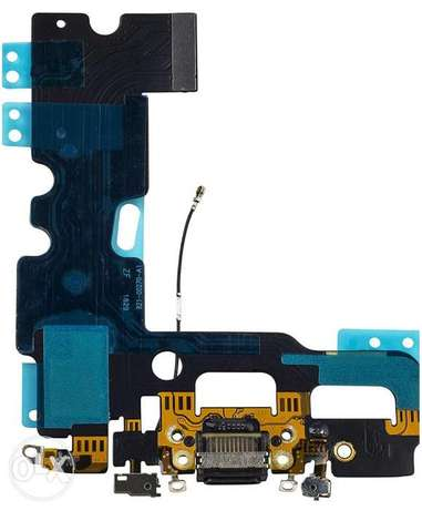 Charging Port USB Dock Flex Cable with Microphone and Antenna ايفون