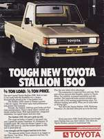 Toyota Stallion wanted