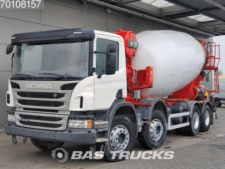 Scania P410 8X4 12m3 Big-Axle Steelsuspension Euro 6 - 2017