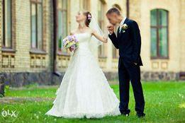 Свадебное платье бу (ручная вышивка бисером) a019b3f348eaf