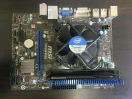 Old motherboard with I3 3.7ghz 2gb ram for sell