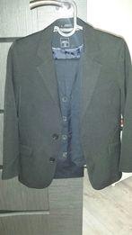 e0ce32a4b590d Garnitur komunia spodnie kamizelka koszula marynarka 9-10 lat 134/140
