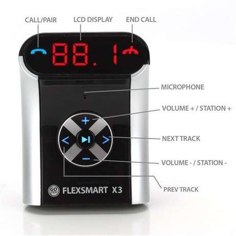 Bluetooth Car Adapter GOgroove FlexSMART Phone H/Free FM Transmitter Nairobi CBD - image 3