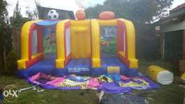 soccer bouncing castle for hire