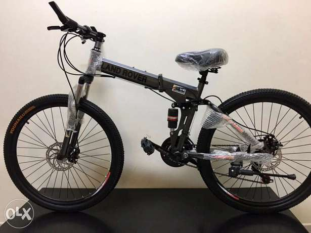 New Stock 2021 - 26 Inch - Grey LR Foldable Bikes For Adults and Teens