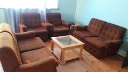 Brown couches