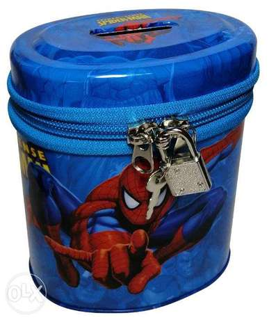 Brand New Cylinderical Money Box - SpiderMan