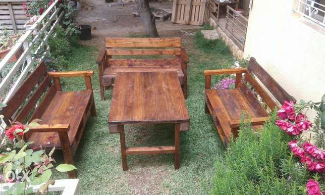 Three benches one table .free two cafe table offer for one month