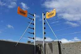 Electric Security Fencing System Installation