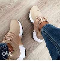 brown fresh nike sneakers