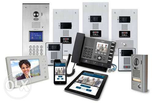 Electric and intercom system installation