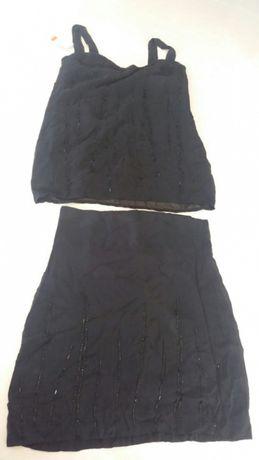 ec0a30d1 Komplet H&M 42 czarny zestaw spodnica bluzka Lublin • OLX.pl