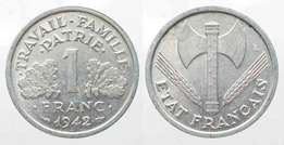 Coin 1942 1 Frank (French)